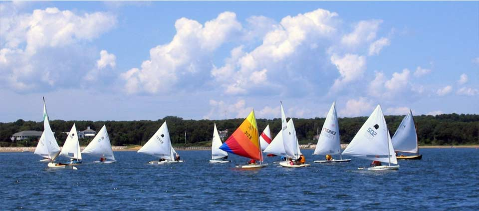 Sailboats in Pleasant Bay, Orleans MA