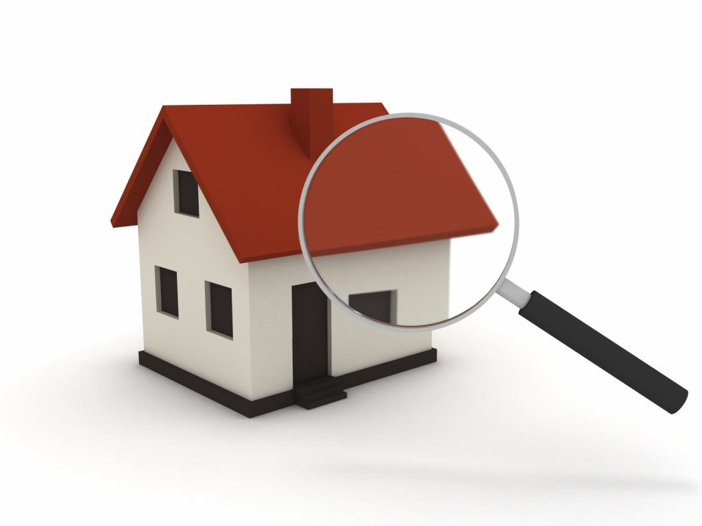 a rendering of a house with a magnifying glass