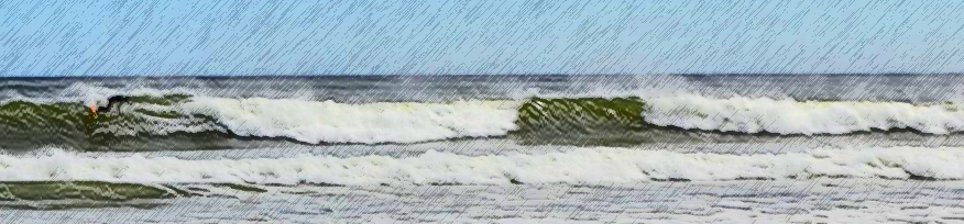 waves in a watercolor style