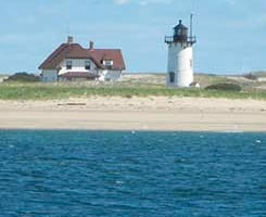 Race Point lighthouse in Provincetown